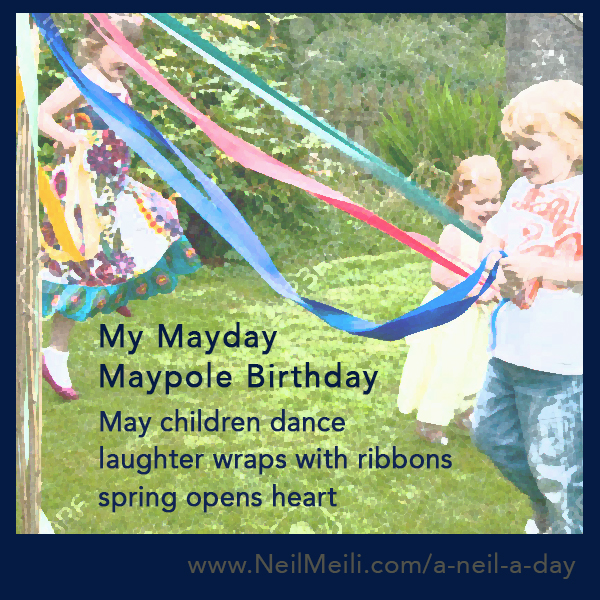 May children dance laughter wraps with ribbons spring opens heart