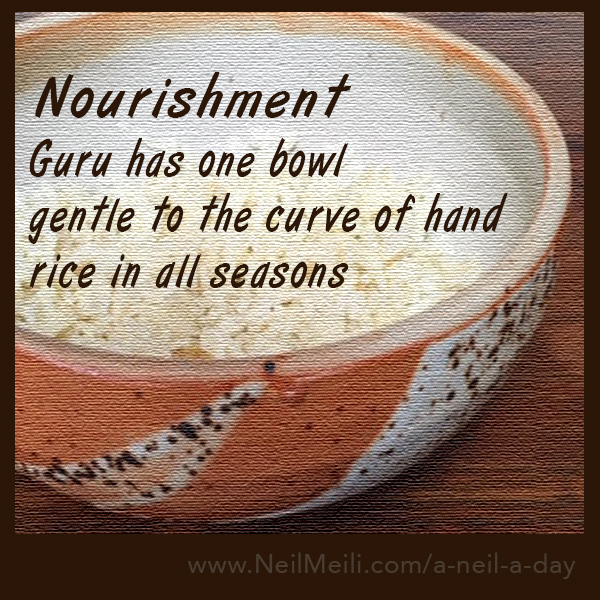 Guru has one bowl gentle to the curve of hand rice in all seasons