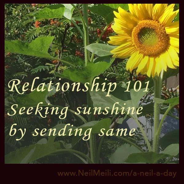 Seeking sunshine by sending same