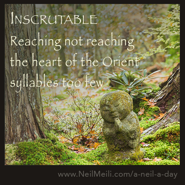 Reaching not reaching the heart of the Orient syllables too few
