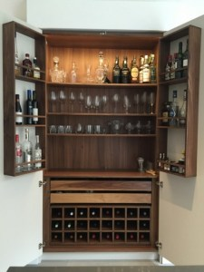 walnut drinks cabinet for kitchen