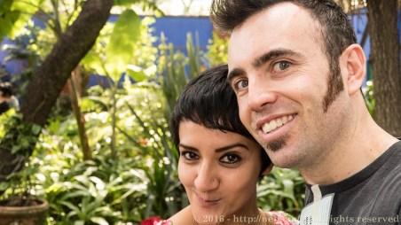 Rosa and I at the Frida Kharlo museum