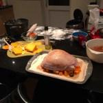 Salt Dough Roasted Turkey Crown with Butternut Squash & Chestnuts