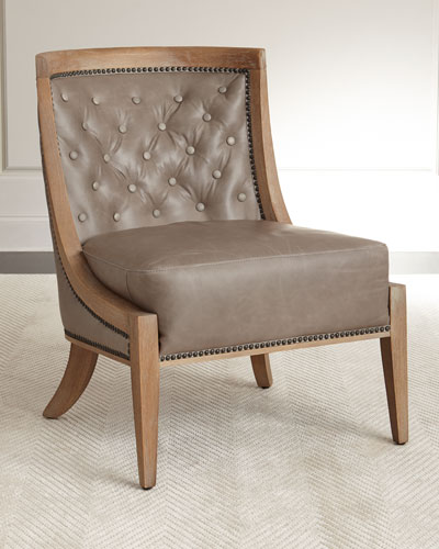 tufted nailhead chair folding rentals orlando trim neiman marcus wadsworth leather