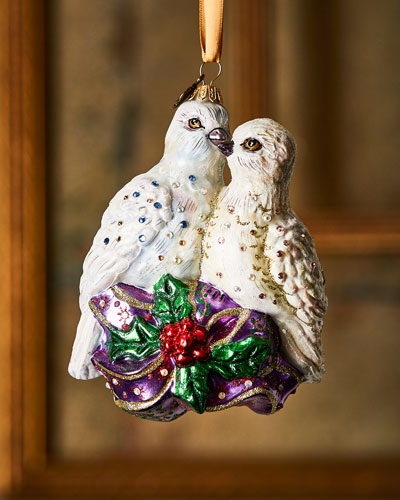 Turtle Doves Christmas Decorations
