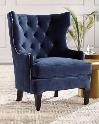velvet chair design west elm willoughby tufted neiman marcus essie wing