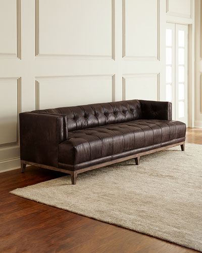 tufted brown leather sofa two piece sectional bed neiman marcus quick look hooker furniture quinn 91 5 available in