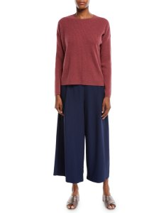 Lightweight wide leg ankle pants plus size eileen fisher also cropped ponte trousers neiman marcus rh neimanmarcus