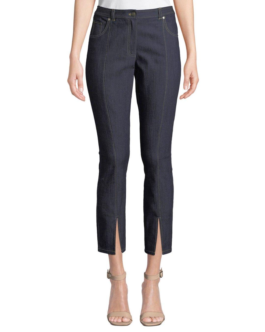 d958054cfe4 ...  295.00 – Neiman Marcus – Rosa Mid-Rise Split Straight-Leg Pants –   295.00