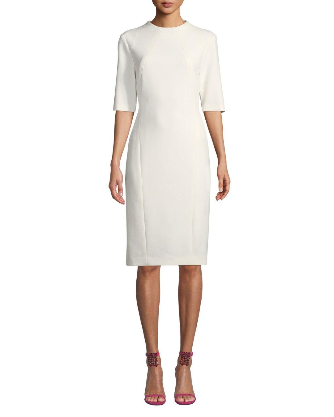 48ad5cd4d182d Neiman Marcus – Aperitif Double-Weave Bodycon Dress –  398.00