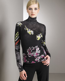 Etro Printed Turtleneck