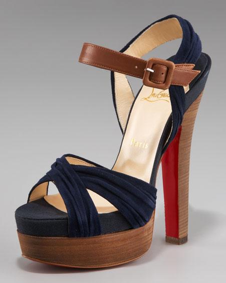 Christian Louboutin Ankle Wrap Platform Sandal