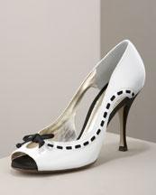 X0AA6 Dolce & Gabbana Grosgrain-Trim Pump
