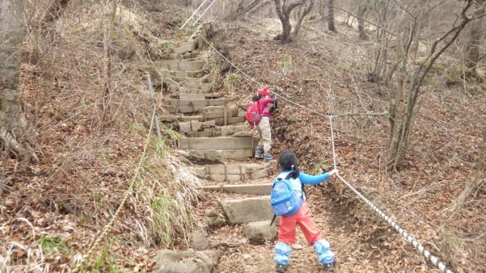 金時山北面の登山道