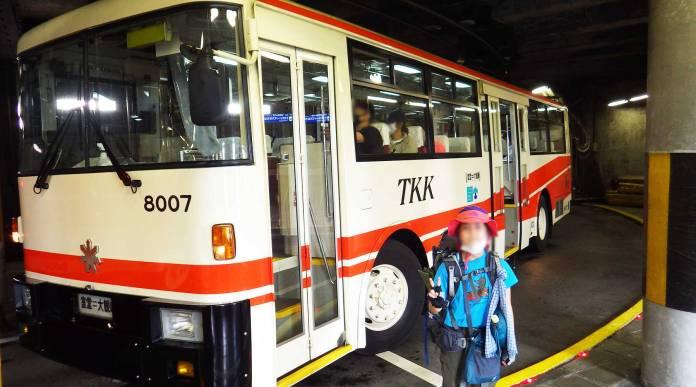 大観峰から室堂へのトロリーバス