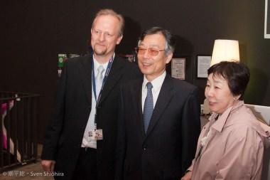 Der Organisator zusammen mit dem Konsul nebst Gattin