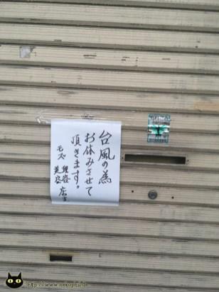 Heute geschlossen wegen Taifun