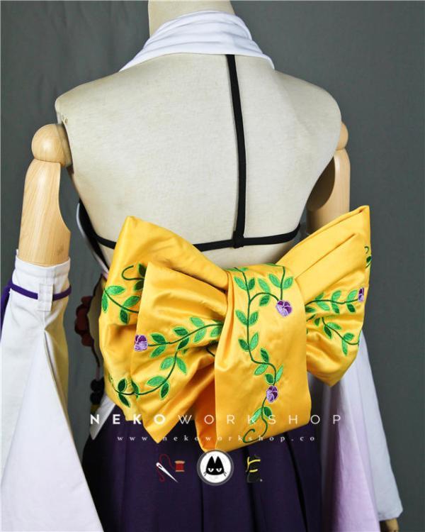 final fantasy x yuna summoner cosplay costume