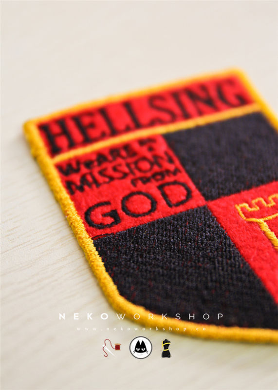 seras victoria cosplay costume embroidery patch