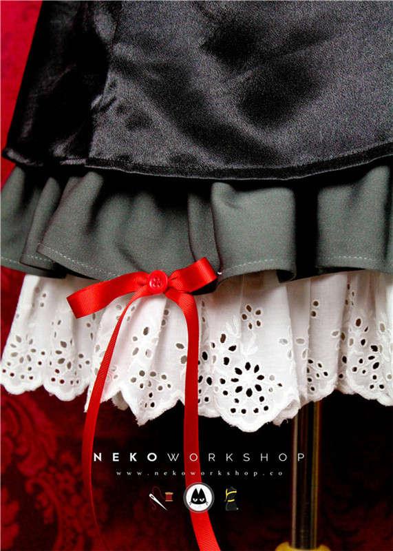 guilty crown inori yuzuriha cosplay costume black dress