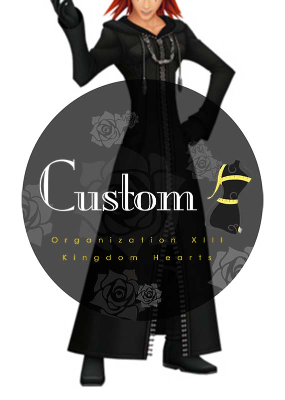 kingdom hearts organization xiii cloak coat hood jacket cosplay costume