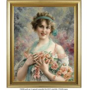 Me_8191_gold__lady_in_roses_Emile_vernon