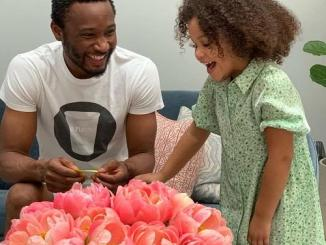 Mikel Obi and daughter