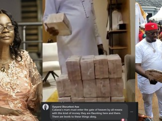 """Cubana's mum must enter the gate of heaven by all means with this kind of money they are flaunting here and there. - Nigerians react to the """"doings"""" of Obi Cubana & Friends"""