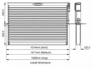 N Gauge Nelevator physical dimensions