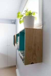 Wine crates   Shelves   Osoyoos Larose   DIY   Home Decor   Tutorial   Paint   shelf   Craft Room   One Room Challenge