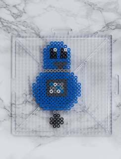 DIY | Frames | Robots | Perler Beads | Crafts | Kids | Children | Gifts | Paint | Free printable | Image | blue | cheap | Easy | IKEA frames |