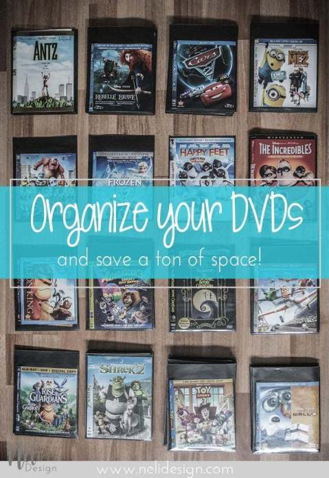 organize your DVD Blu-ray tabs washi tape organiser onglet alphabétique alphabetical