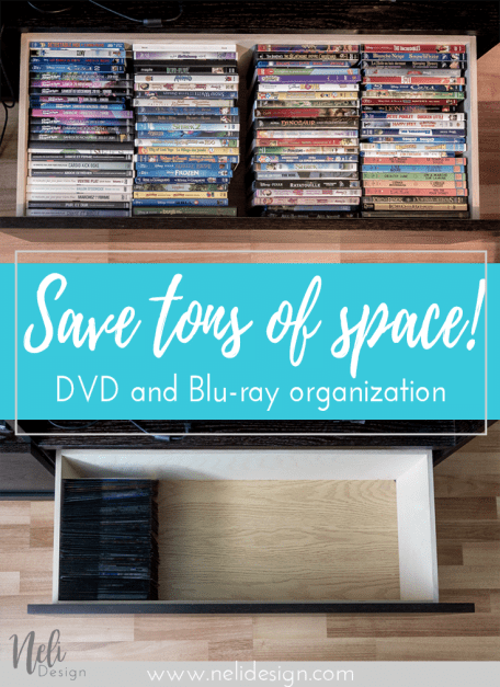 DVD | Blu-ray | storage | organization | ideas | small space | DIY | Sleeves | rangement | organisation | petit espace |
