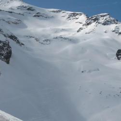 Pendio sotto la cima del Monte Nevoso