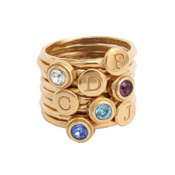 Stackable Rings In Gold Mom Of Four Children