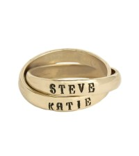 Personalized Hand-Stamped Rings For Moms