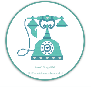 Vintage Phone Cross Stitch Pattern