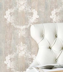 Carta da parati neo country o shabby chic per la mia craft room