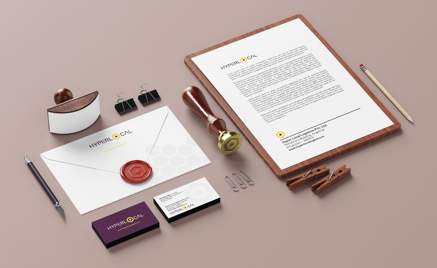 Stationary design for logistic company based in Kerala
