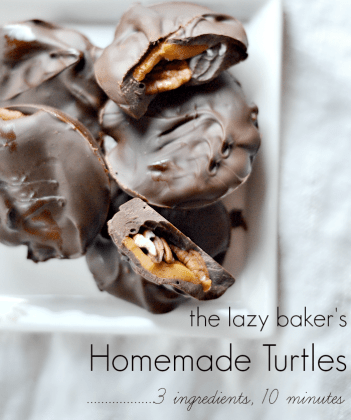 Looking for a great edible Christmas gift this year? Turtle Candy - Nellie Bellie || Treats for Teacher: Christmas Candy Kids Can Make! || Letters from Santa Holiday Blog