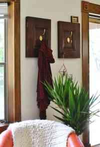 Repurposed Cabinet Doors DIY | Coat Rack