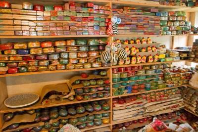Shelves of Paper Maché