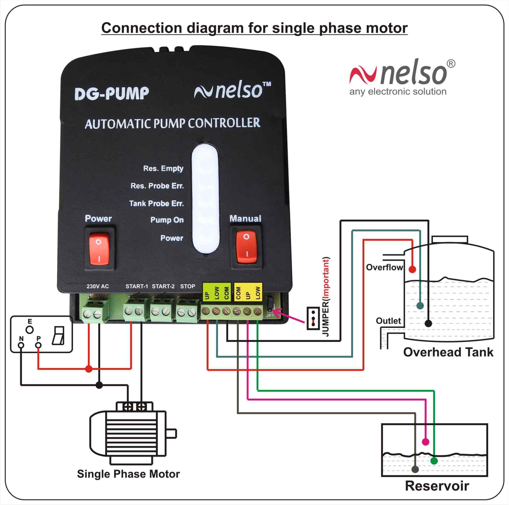 hight resolution of single three phase pump controller for any motor