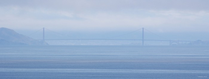 Figure 2. Thirty miles to the east, the Golden Gate Bridge can be clearly seen on a day with good visibility.