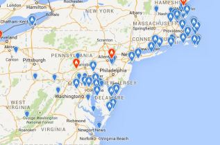 Gambel's White-crowned Sparrow sightings in the mid-Atlantic as of February 4th, 2015. Courtesy of eBird.org.