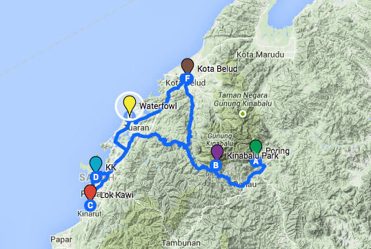 The big day route