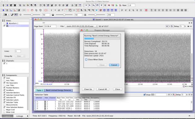 Screenshot_BandLimitedEnergyDetector_Running
