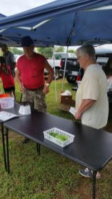 Wayne and Gwynn Barkley had a great morning selling most everything they brought to market.