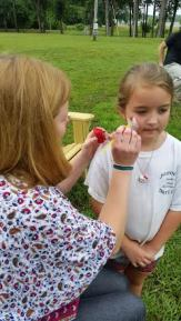 Haley Yurkow provided facepainting and balloons for the younger customers.