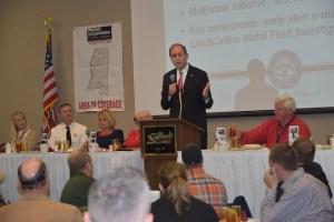 Crime Stoppers speaker Delbert Hosemann